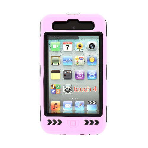 I Like The New Touch Of Pink In: DELUXE PINK HARD CASE COVER SILICONE SKIN FOR IPOD TOUCH 4