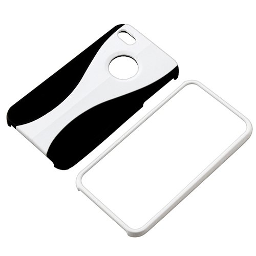 on 3 Piece Rubber Hard Case Cover Skin for iPhone 4 G 4S 4GS