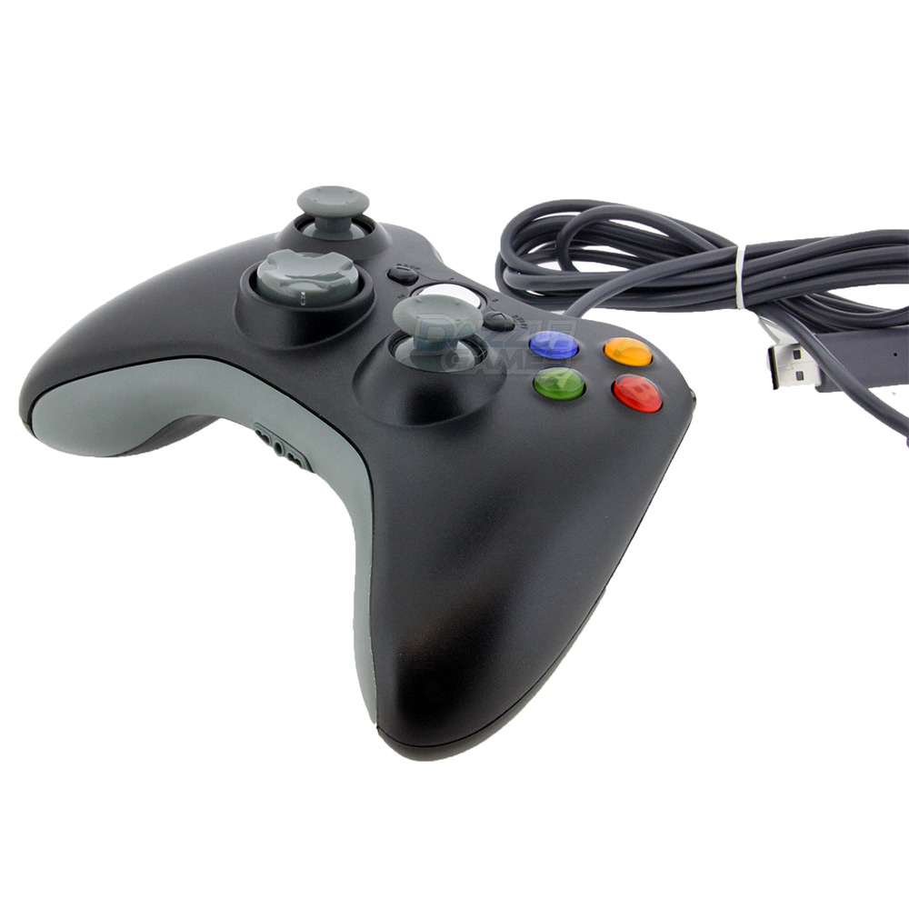 Black USB Wired Gamepad Controller Joypad Joystick ForXbox 360 Controller Wired