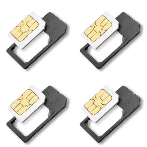 4X Small Mini Micro Sim Card Adaptor Adapter Converter US Seller